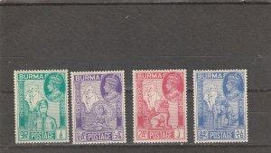 Burma  Scott#  66-9  MH  (1946 Victory Issue)