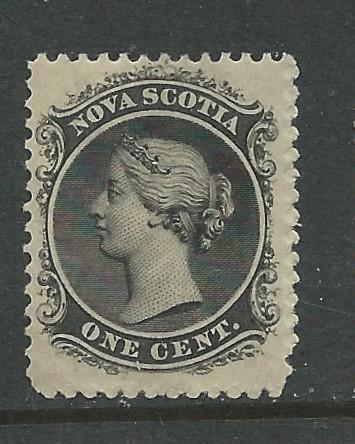 Canada-Nova Scotia  # 8  Queen Victoria 1860  1c   (1)   VF Unused