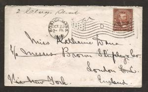 US Sc 270 on 1896 Forwarded Cover to London