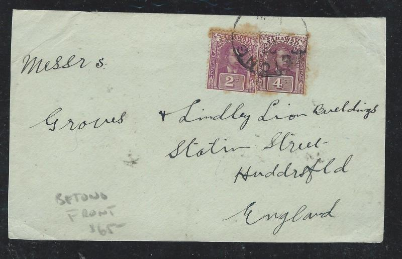 SARAWAK (P0701B) BROOKE 2C+4C FRONT   FROM BETONG  TO ENGLAND, FRONT   ONLY