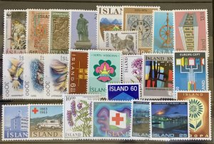 Iceland 25 different MNH