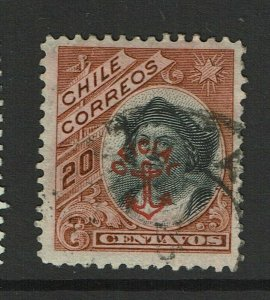 Chile SC# O14, Used, dealer mark on back - S12424