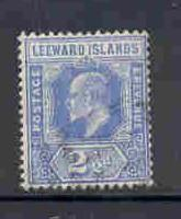 Leeward Islands  Sc 45 1907 2  1/2d E VII stamp used