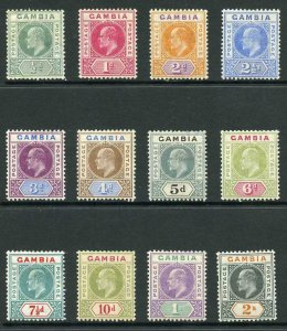 Gambia SG57/68 1904-06 KEVII Wmk Mult Crown CA Set of 12 M/M
