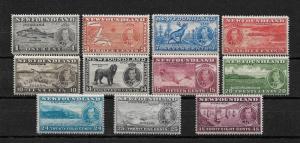 Newfoundland Scott # 233-243 set-1 F-VF NH scv $ 61 ! nice colors ! see pic!
