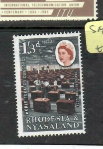 RHODESIA & NYASALAND (P0806B)  QEII   1/3 TOBACCO   SG 45   MNH