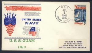 USS Guam LPH 9 July 4th 1967 Beck Cachet