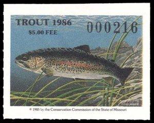 U.S. MISSOURI ST. REVS T18  Mint (ID # 94890)