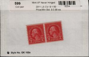 US 599 MNH Coil Pair