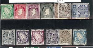 Ireland, 106-17 (12v), Coils Type 1922-23 Singles,**MNH**