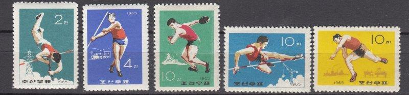 J26835 1965 north korea set mh #603-7 sports