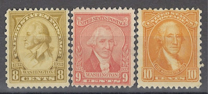 COLLECTION LOT OF # 1935 UNITED STATES #713-5 MH 1932