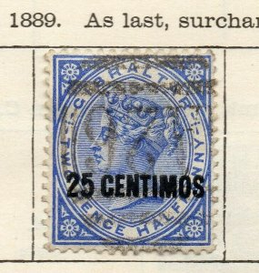 Gibraltar 1889 Early Issue Fine Used 25c. Surcharged NW-114715