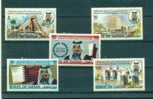 Qatar - Sc# 460-5. 1976 4th Ann. Sheik Khalifah. MNH $24.10.
