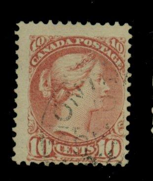 Canada #45 Used F-VF Cat$62.50