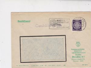 German Democratic Republic 1957 Dresden Cancel Official Stamps Cover Ref 24384