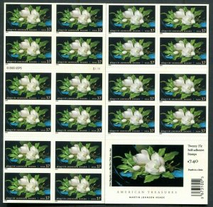 American Treasures Series 3872a Martin Johnson Heade Booklet  Of 20 37¢ Stamps