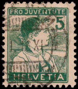 Switzerland Scott B2 (1915) Used H F-VF, CV $8.25 B