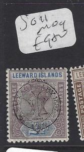 LEEWARD ISLANDS (P1610B)  QV   2 1/2D TERCENT SG 11   MOG
