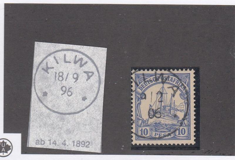 GERMAN EAST AFRICA # 14 SON SUPERB KILWA CANCEL COLLECTED FOR CANCELS