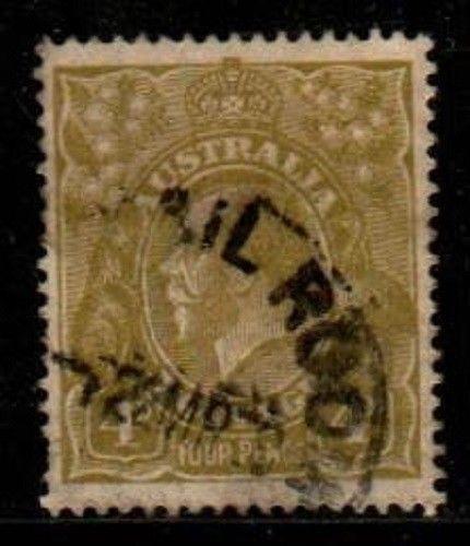 Australia Scott 73a Used (Catalog Value $50.00)