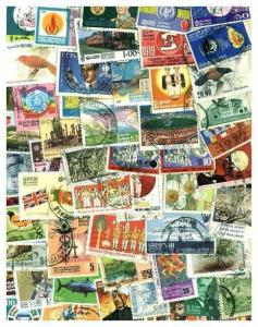 Sri Lanka Stamp Collection - 400 Different Stamps