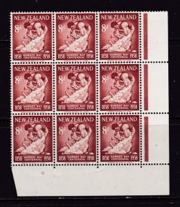 New Zealand the 1958 Hawkes Bay 8d plate block MNH