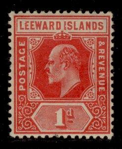 LEEWARD ISLANDS SG38, 1d bright red, M MINT. Cat £15.