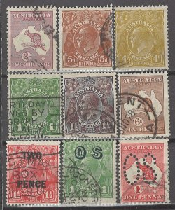 COLLECTION LOT # 5282 AUSTRALIA 9 STAMPS 1915+ CV+$28