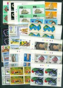 EDW1949SELL : FIJI VF, Mint NH collection of Blocks of 4. ALL CPLT sets Cat $294