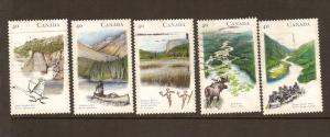 CANADIAN SET ON HERITAGE RIVERS-1 USED STAMPS  LOT#220