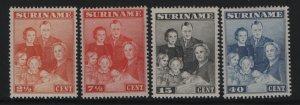 SURINAM, 176-179, HINGED, 1943, ROYAL FAMILY