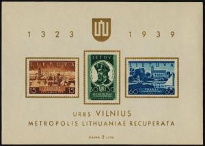 Lithuania 316a MNH Return of Vilnius to Lithuania