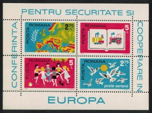 Romania European Security and Co-operation Conference Helsinki MS issue 1975