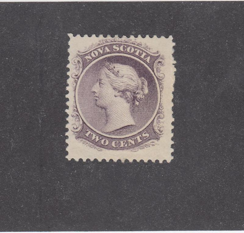 NOVA SCOTIA REF# KM13 # 9 VF-MH 2cts  Q/VICTORIA LILAC CAT VALUE $20