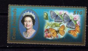 Cook Is 1294 NH 2007 QEII and Butterflies