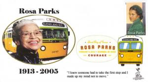 Rosa Parks FDC, w/ DCP cancel.