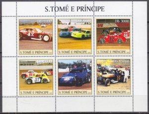 2003 Sao Tome and Principe 2247-52KL Cars / Stock Cars — Racing 11,00 €