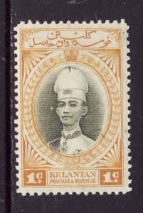 Malaya Kelantan-Sc #29-unused hinged-1c yellow & olive green-1937-40-