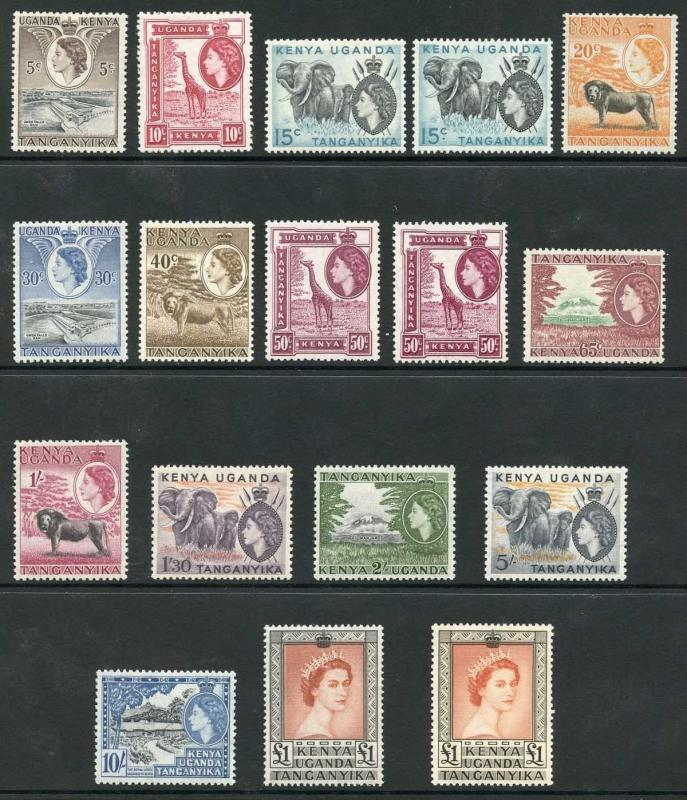 KUT QEII SG167/80 set of including extra shade BOTH One Pounds U/M