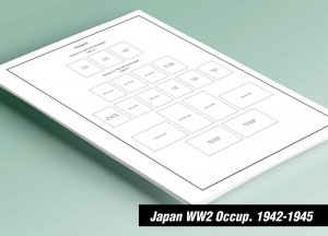 PRINTED JAPAN WW2 [S.E. ASIA OCCUPATIONS] 1942-1945 STAMP ALBUM PAGES (43 pages)