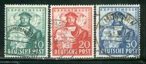 Germany AM-Post Scott # 662 - 664, used