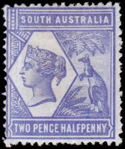 South Australia Scott 102 (1894) Mint H F-VF, CV $45.00 M