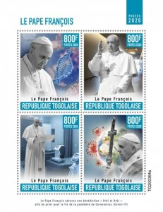 Stamps of 2020. TOGO POPE FRANCIS.