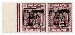 (I.B) Malaya States Revenue : Perak 10c (Japanese Occupation)