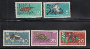 GERMANY - DDR SC# 434-8 F-VF MNH 1959