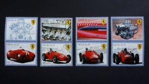 Cars - Ferrari - Nevis 2010 - Complete set ** MNH