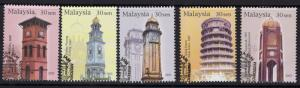 MALAYSIA SG1138/42 2003 CLOCK TOWERS FINE USED