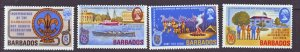 J22211 Jlstamps 1969 barbados set mnh #323-6 scouts