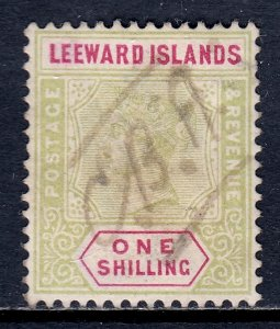 Leeward Islands - Scott #7 - Used - Revenue cancel, pencil/rev. - SCV $55